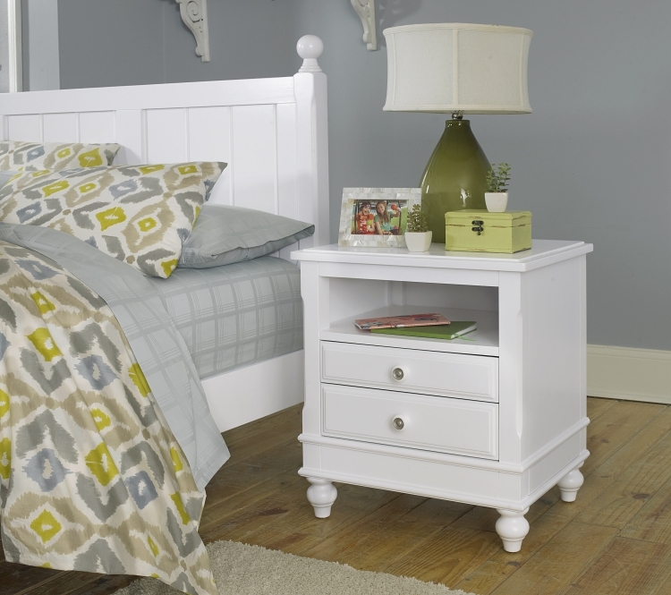 NE Kids Lake House Nightstand, White