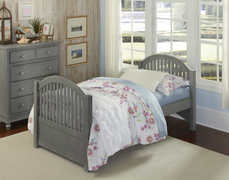 NE Kids Lake House Adrian Twin Bed, Stone Grey