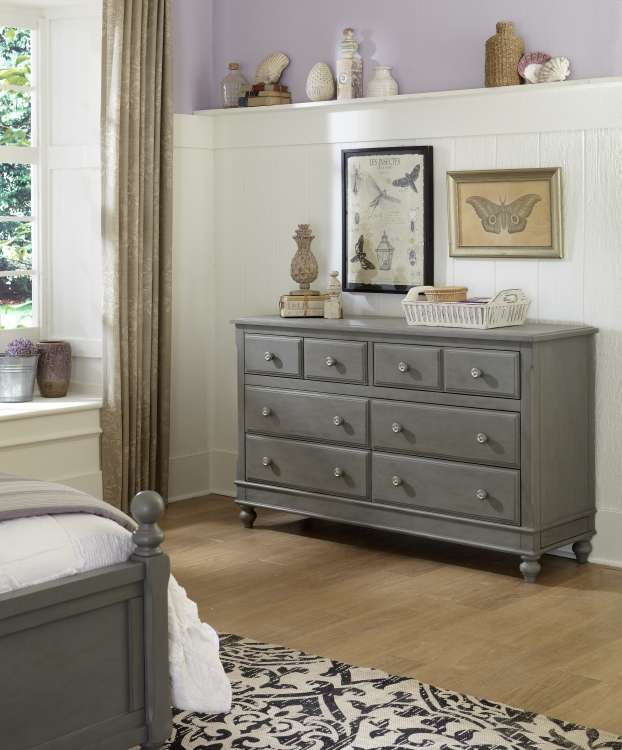NE Kids Lake House 8 Drawer Dresser, Stone Grey