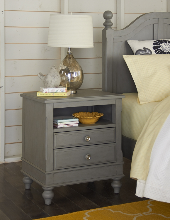 NE Kids Lake House Nightstand, Stone Grey