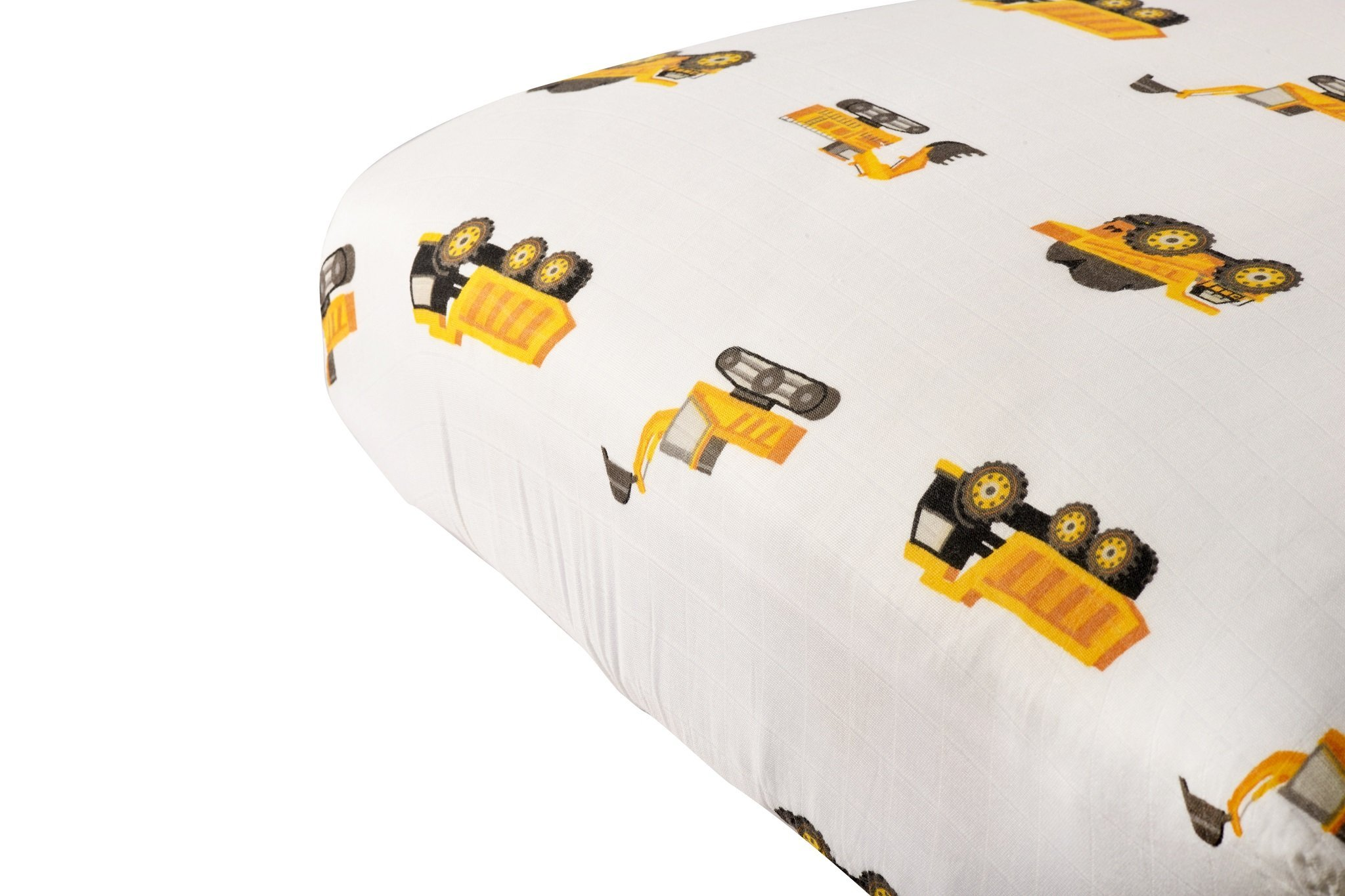 Newcastle Classics Cotton Muslin Crib Sheet - Digger