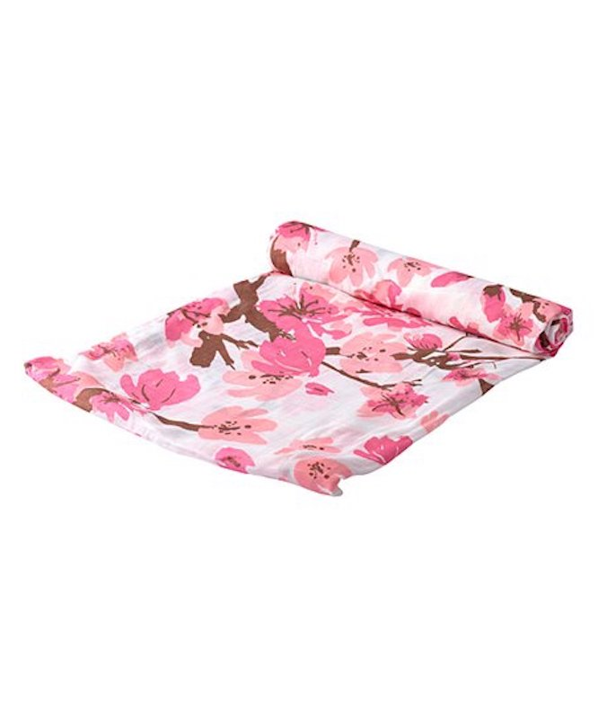 Newcastle Classics Cherry Blossom Swaddle Blanket