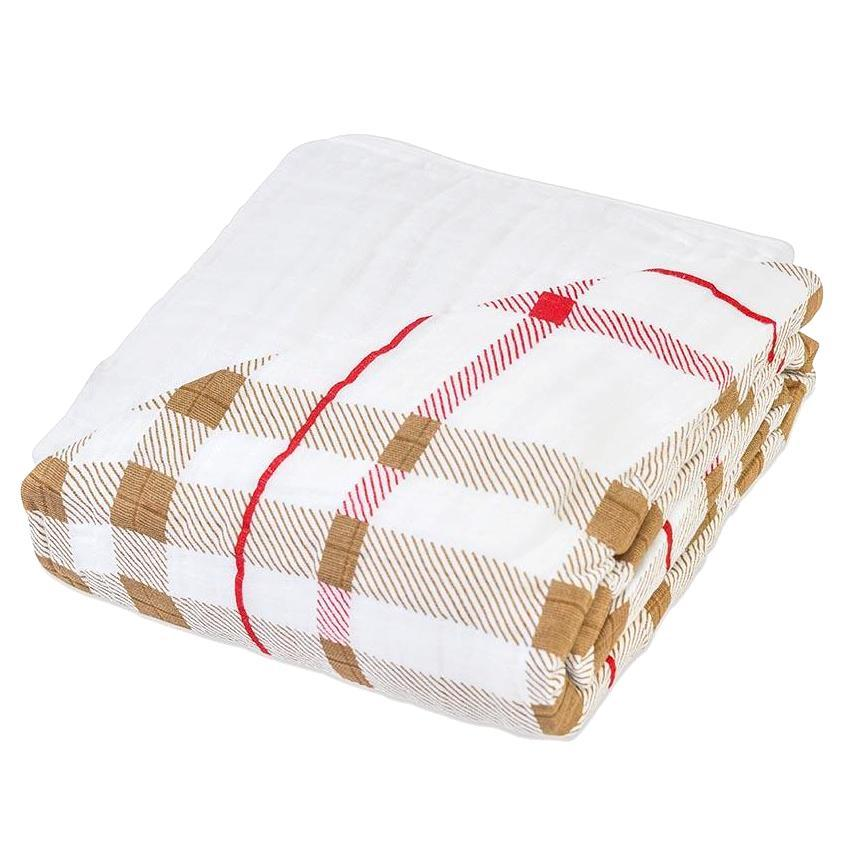 Newcastle Classics Cotton Muslin Blanket - Plaid