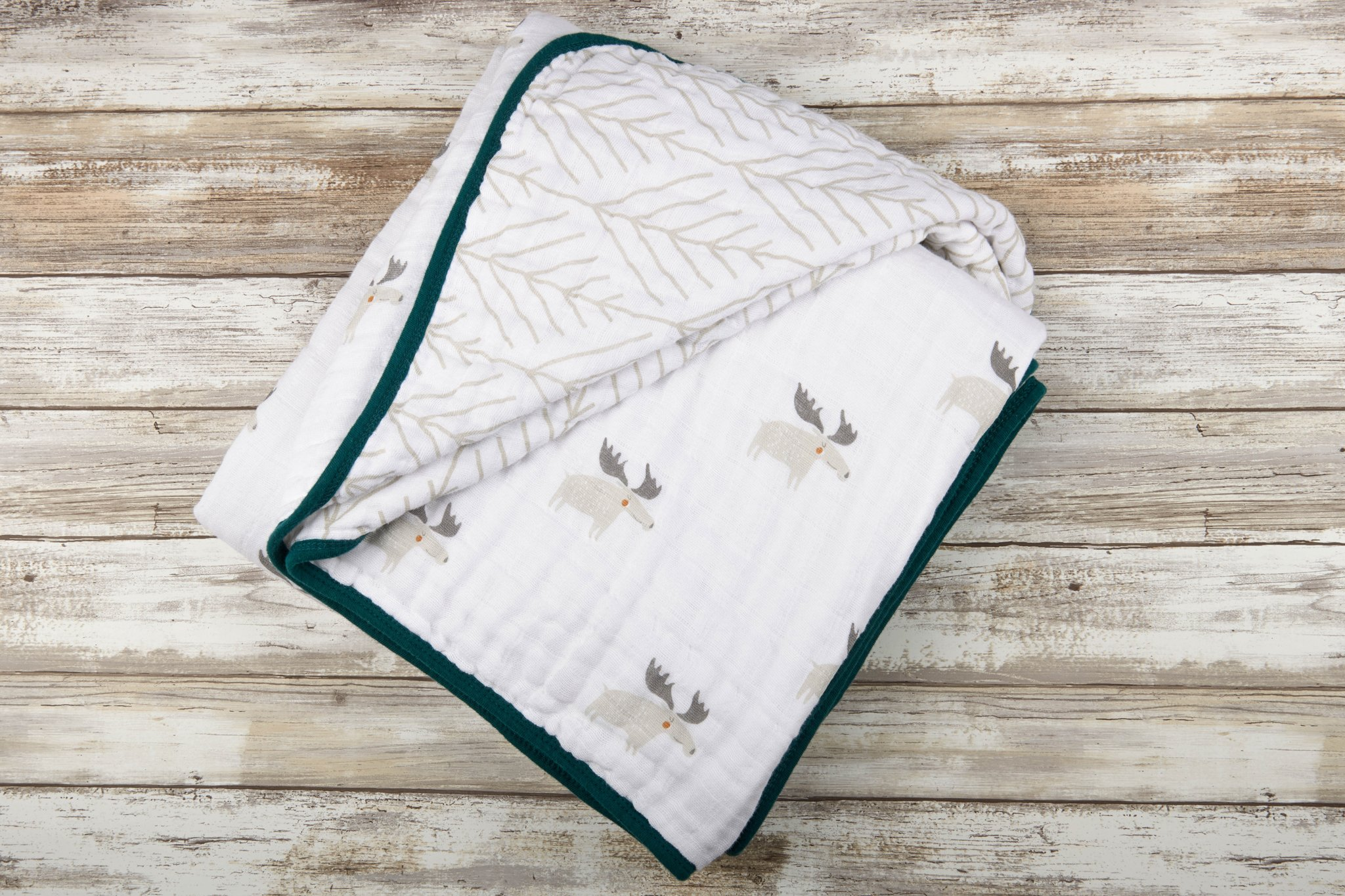 Newcastle Classics Cotton Muslin Blanket Moose