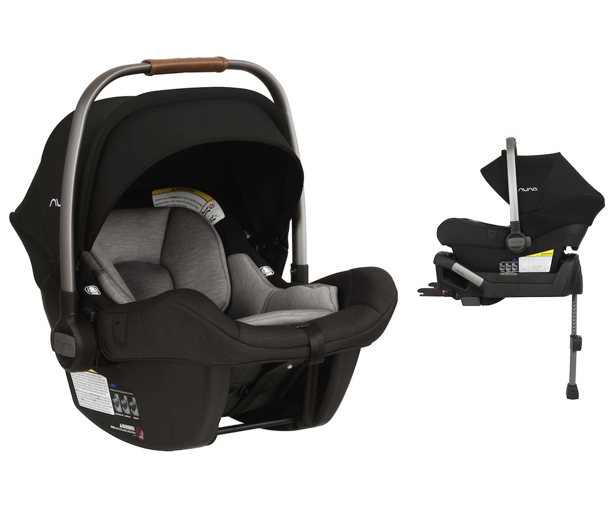 NUNA Pipa Lite Infant Car Seat + Base in Caviar