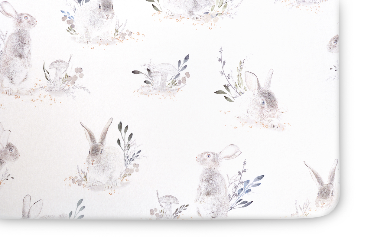 Oilo Studio Cottontail Jersey Crib Sheet