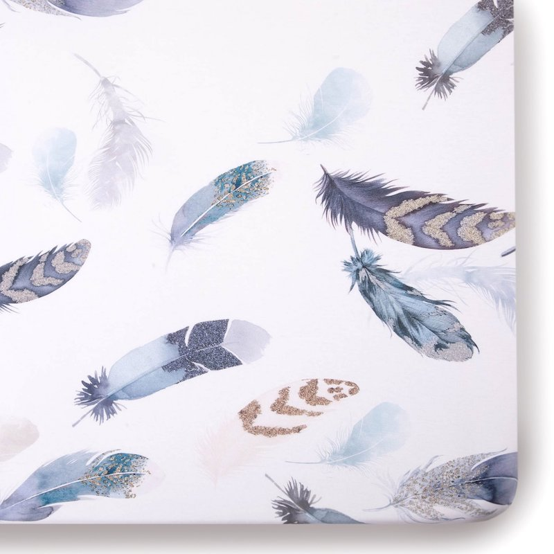 Oilo Featherly Indigo Crib Sheet