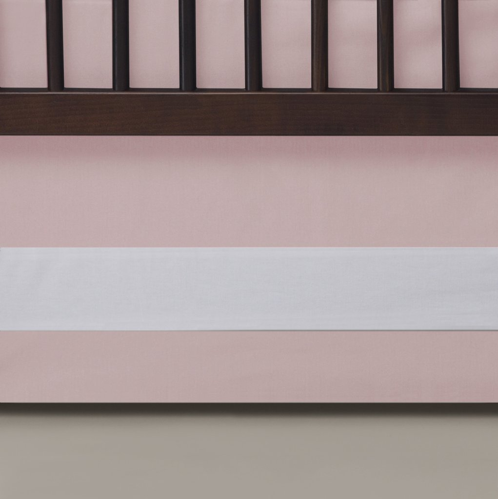 Oilo Solid Crib Skirt - Blush