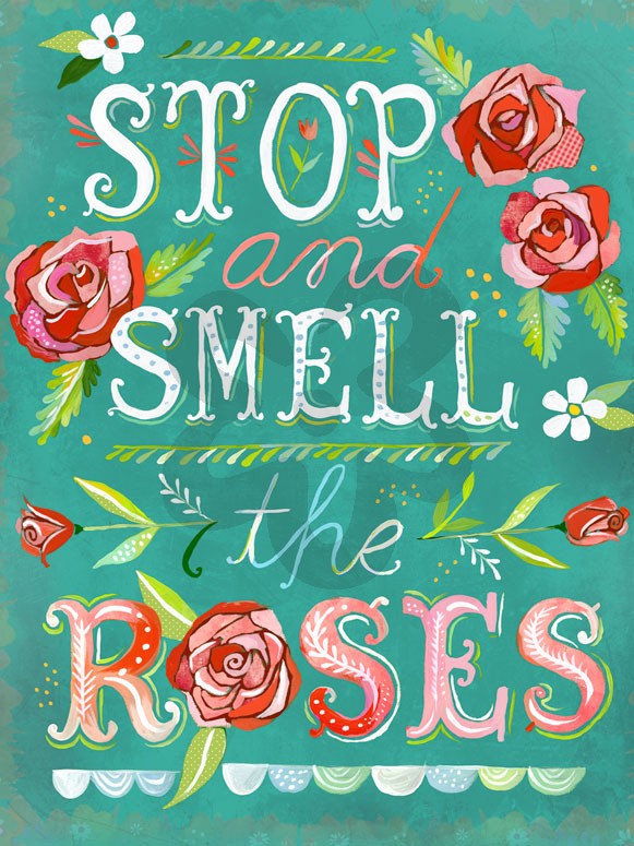 Oopsy Daisy Stop & Smell The Roses Wall Art, 18 x 24