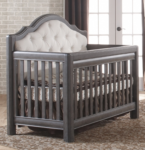 Pali Cristallo Forever Crib with Fabric Upholstery