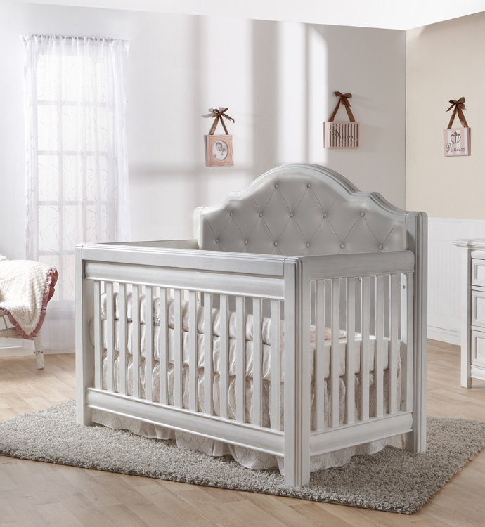 Pali Cristallo Forever Crib with Grey Vinyl Upholstery