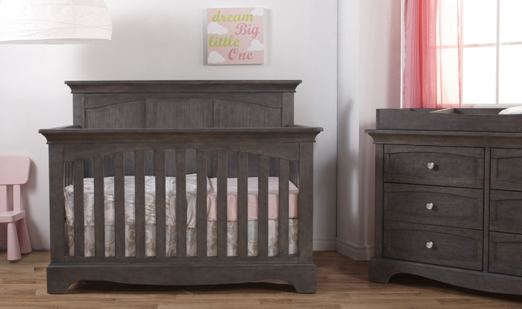 Pali Ragusa Forever Crib - Distressed Granite