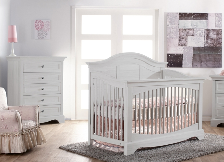 Pali Enna Forever Crib and Chest, Vintage White
