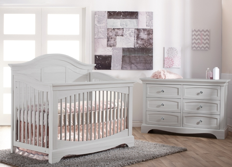 Pali Enna Forever Crib and Dresser, Vintage White