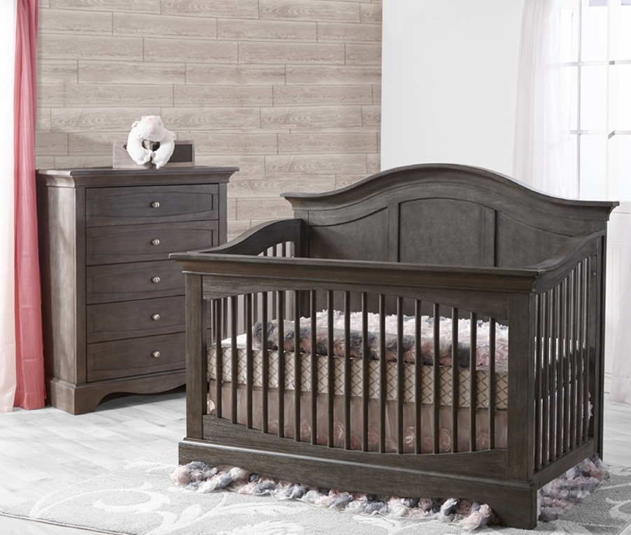 Pali Enna Forever Crib and Chest, Distressed Granite
