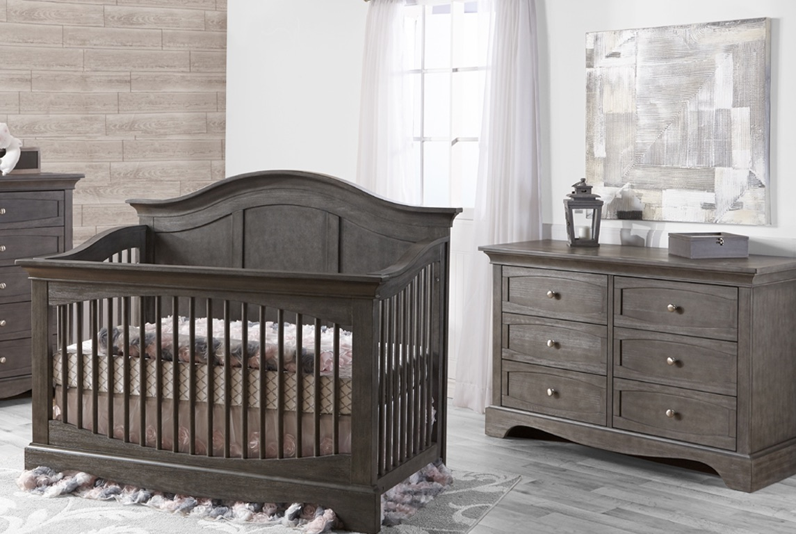 Pali Enna Forever Crib and Dresser, Distressed Granite