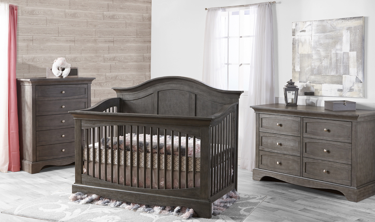 Pali Enna Forever Crib and Dressers, Distressed Granite