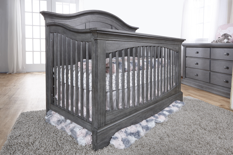 Pali Enna Forever Crib - Distressed Granite