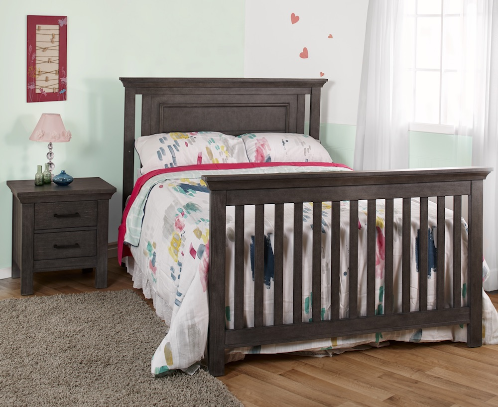 Pali Design Como Flat Top Forever Crib - Granite