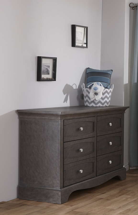 Pali Ragusa Double Dresser - Distressed Granite