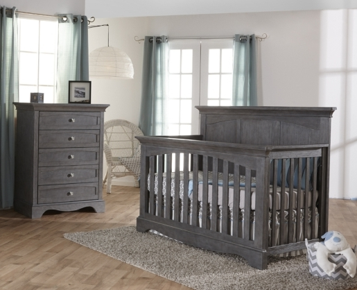 Pali Ragusa Forever Crib and Chest, Distressed Granite