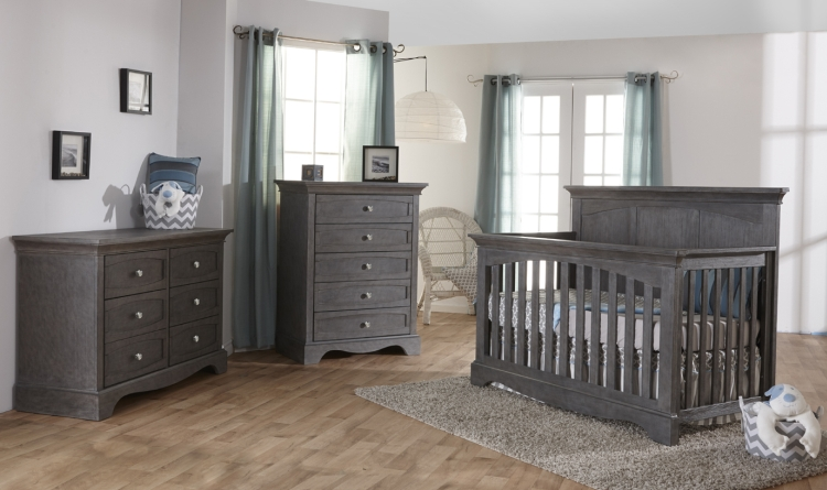Pali Ragusa Forever Crib and Dresser, Distressed Granite