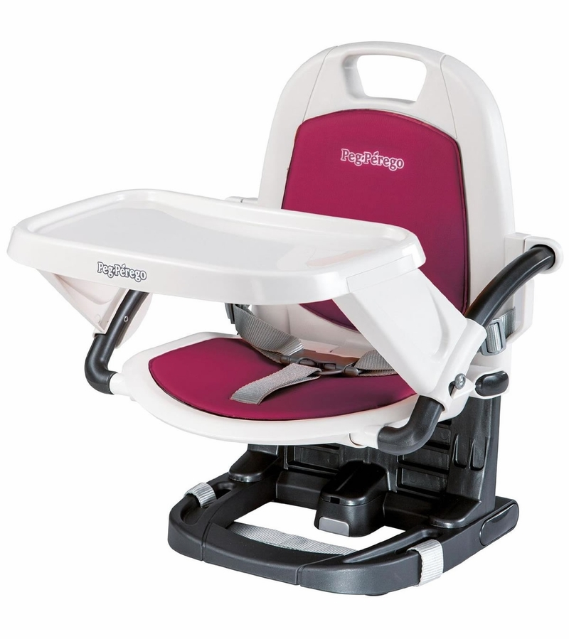 Peg Perego Rialto Booster Chair - Berry Raspberry Pink