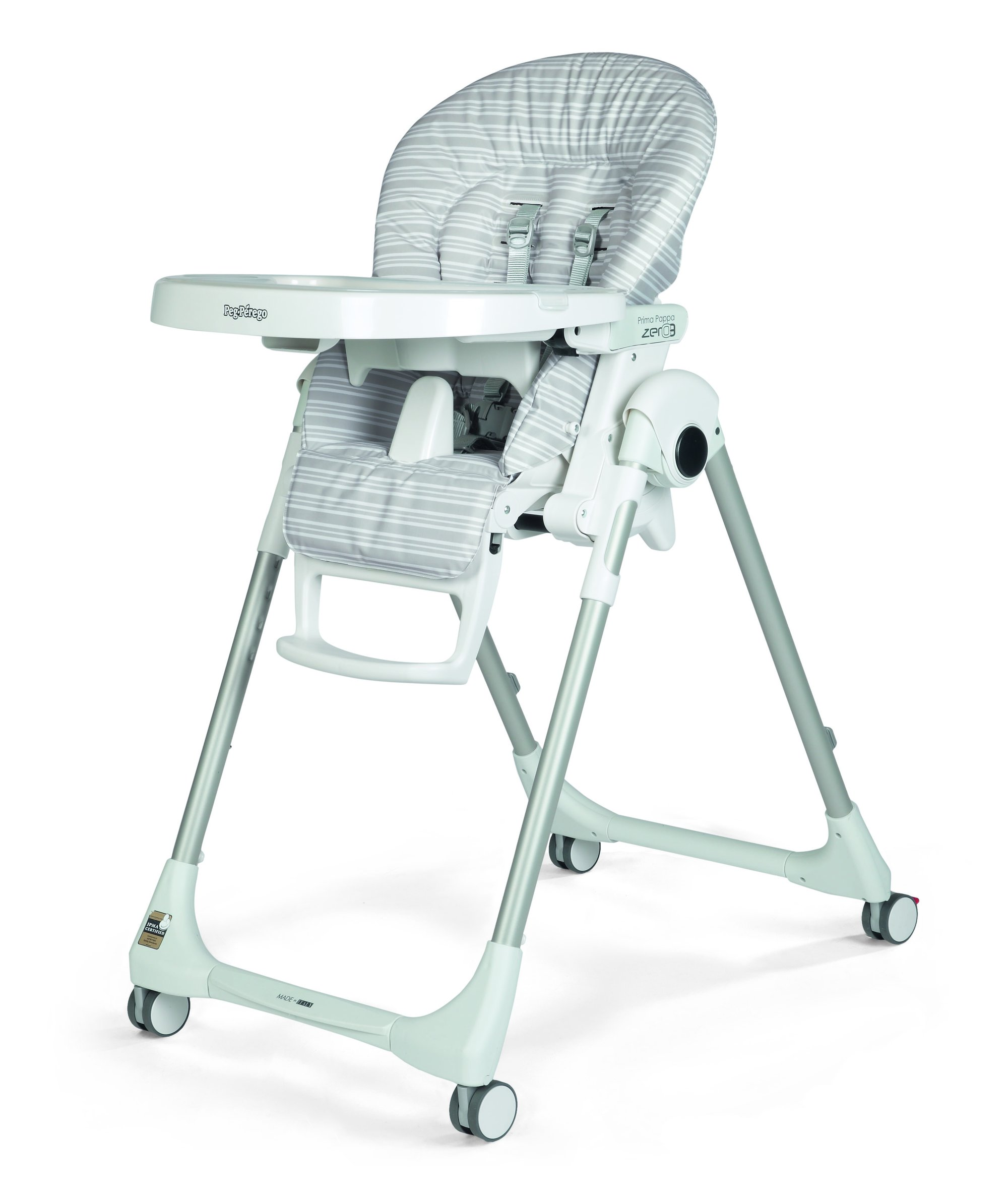 Peg Perego Prima Pappa Zero3 High Chair - Linear Grey