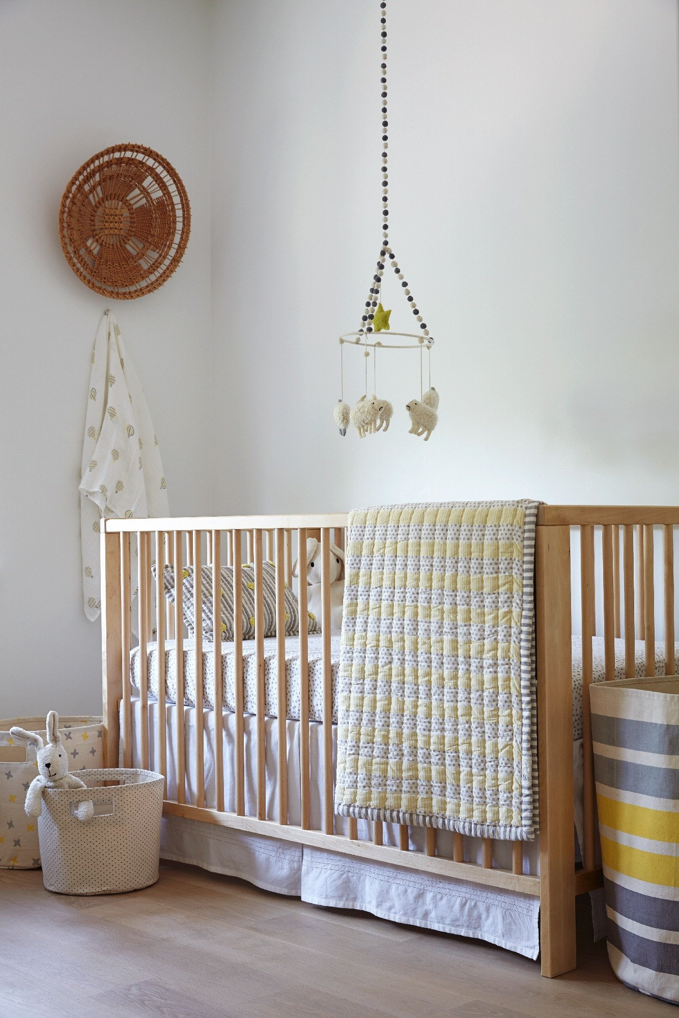Petit Pehr White Crib Skirt