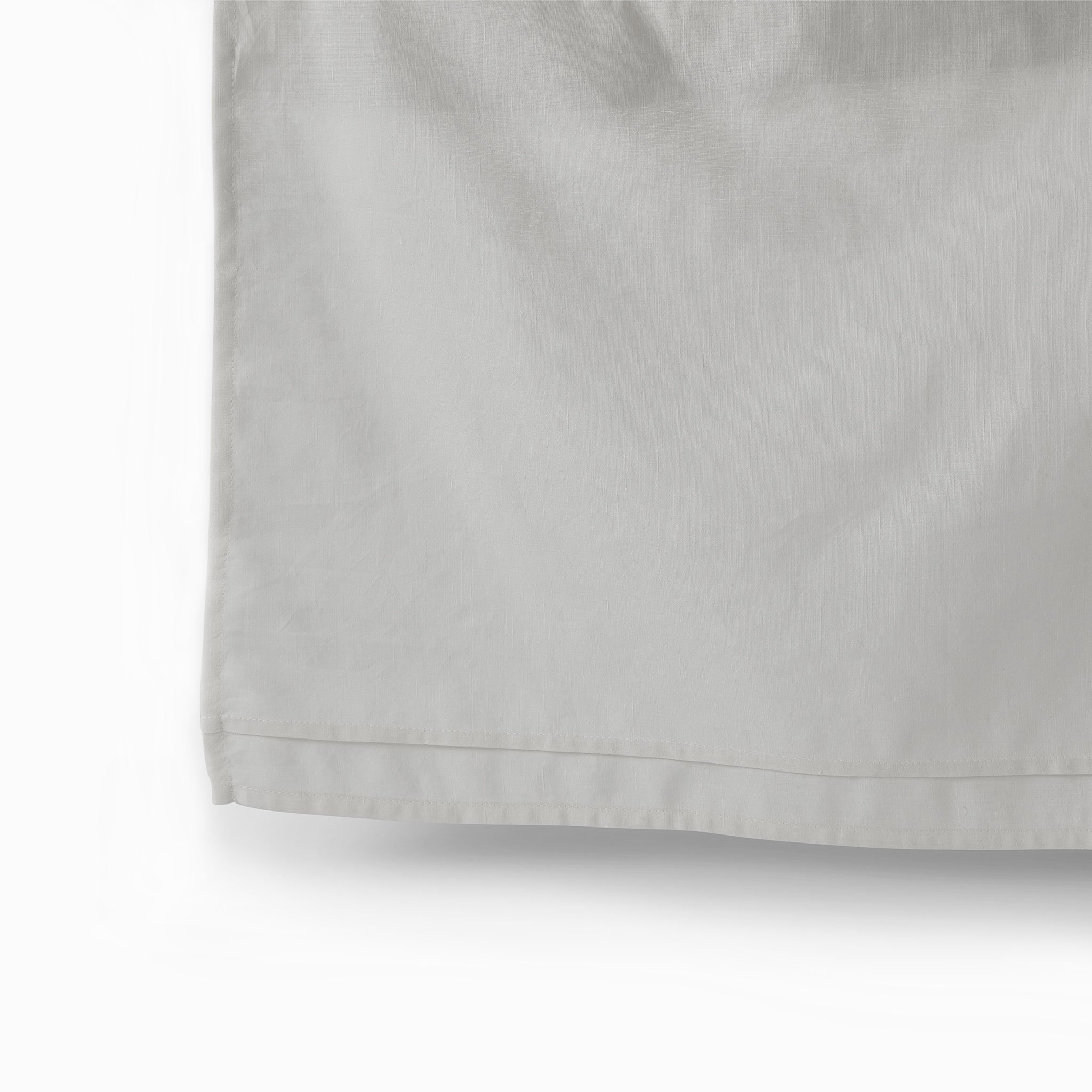 Petit Pehr Cotton Linen Crib Skirt - Light Grey