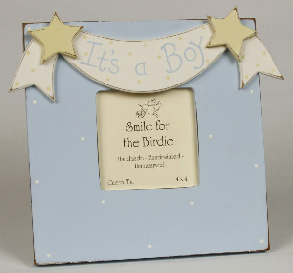 Smile for the Birdie It's A Boy Picture Frame
