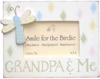 Smile for the Birdie Grandpa & Me Wooden Picture Frame