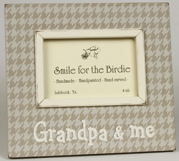 Smile for the Birdie Grandpa & Me Wooden Photo frame