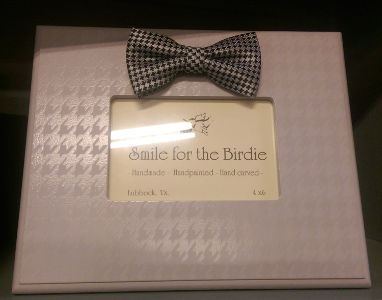 Smile for the Birdie Houndstooth Grey Photo Frame