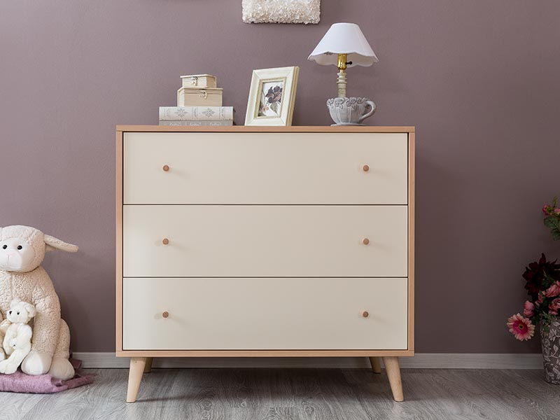 Romina New York 3 Drawers Dresser