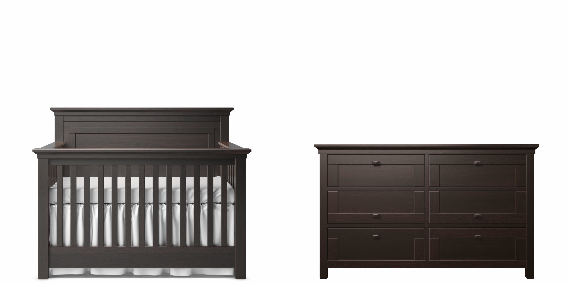 Romina Karisma Panel Crib and Double Dresser - Espresso