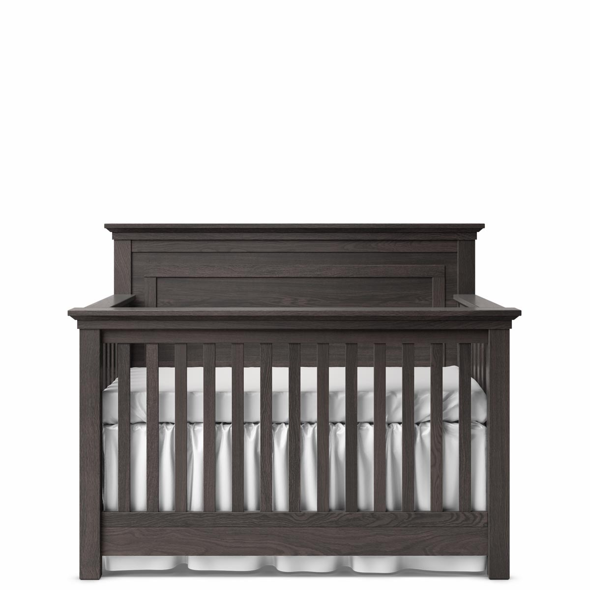 Romina Furniture Karisma Panel Crib - Oil Grey