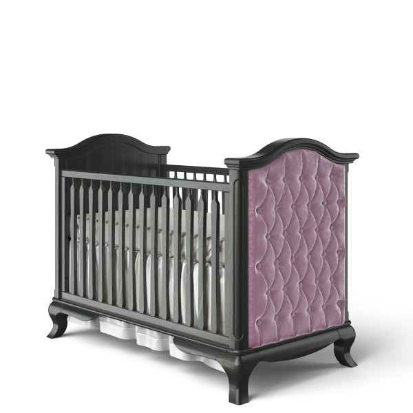 Romina Cleopatra Classic Crib with Pink Velvet Tufting