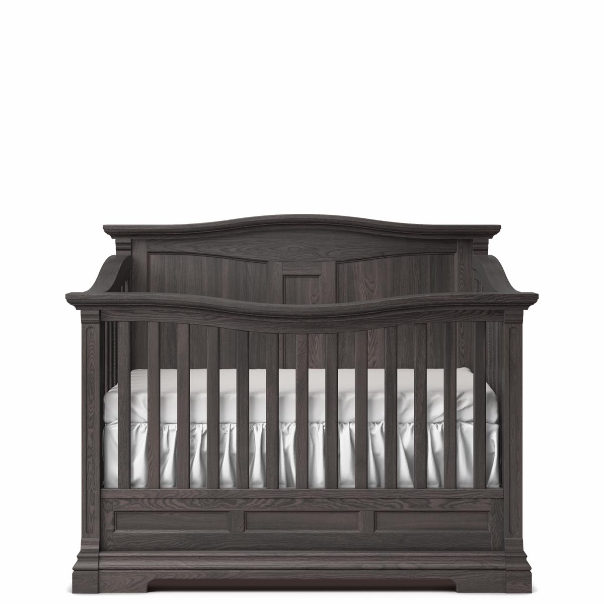 Romina Furniture Imperio Panel Crib - Oil Grey