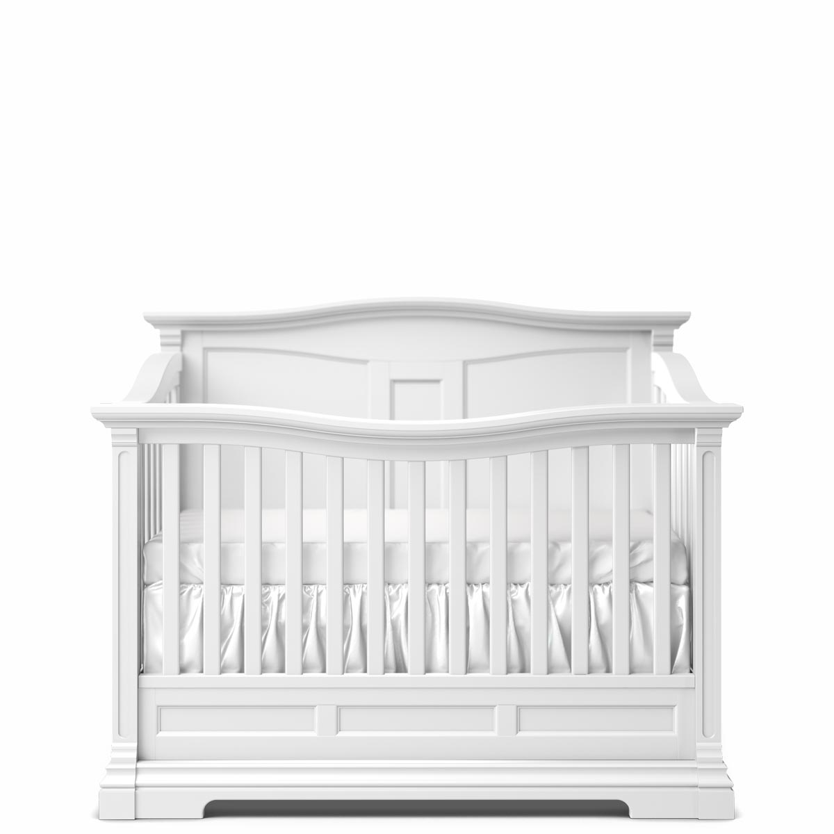 Romina Furniture Imperio Panel Crib - Solid White