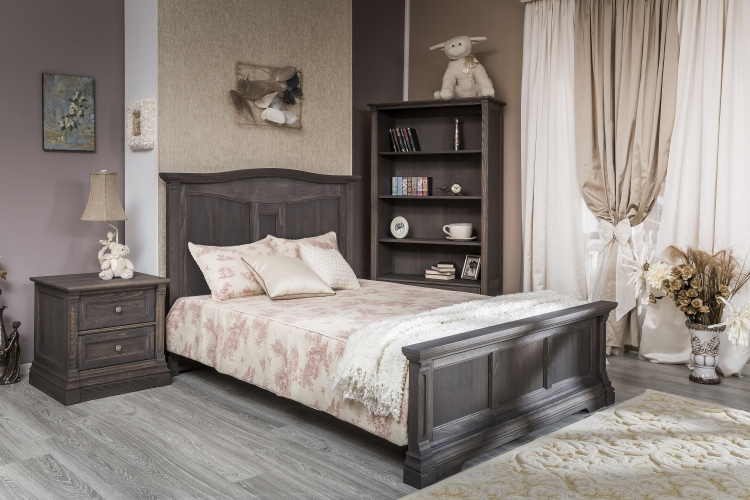 Romina Furniture Imperio Full Bed with Panel Headboard