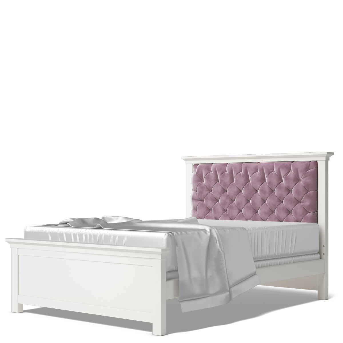 Romina Karisma Pink Velvet Tufted Full Bed