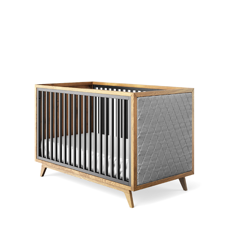 Romina Furniture Uptown Tufted Classic Crib