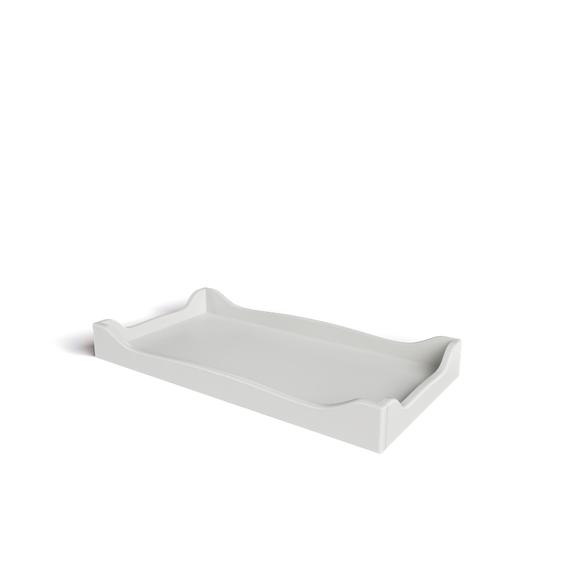 SILVA Furniture Scalloped Changing Tray - Dove White