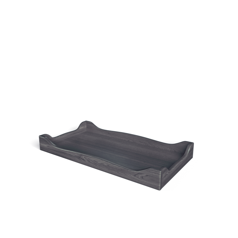 SILVA Furniture Scallopped Changing Tray - Oil Grey