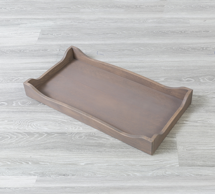 SILVA Furniture Scalloped Changing Tray - Cappuccino