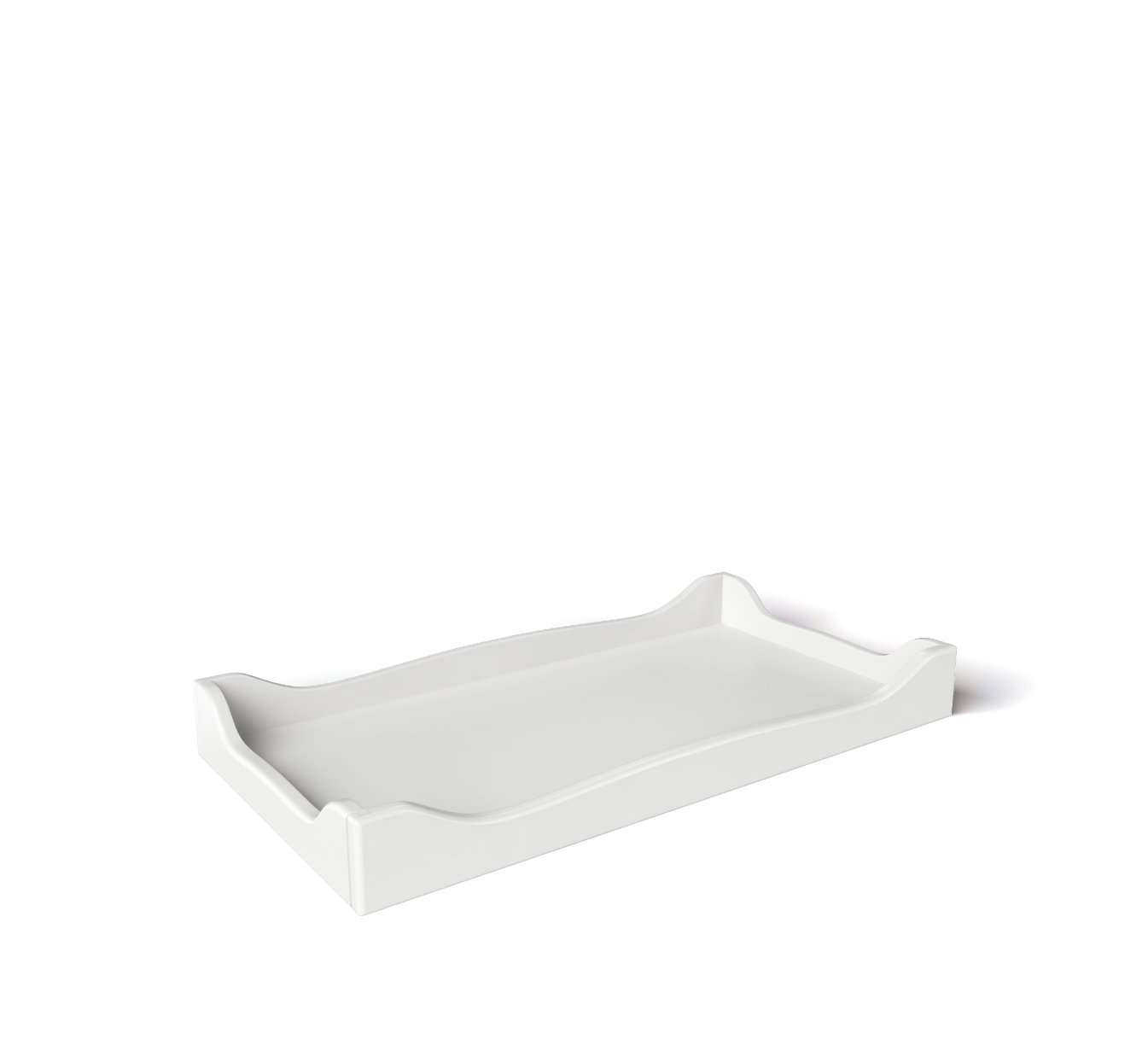 SILVA Furniture Scalloped Changing Tray - White