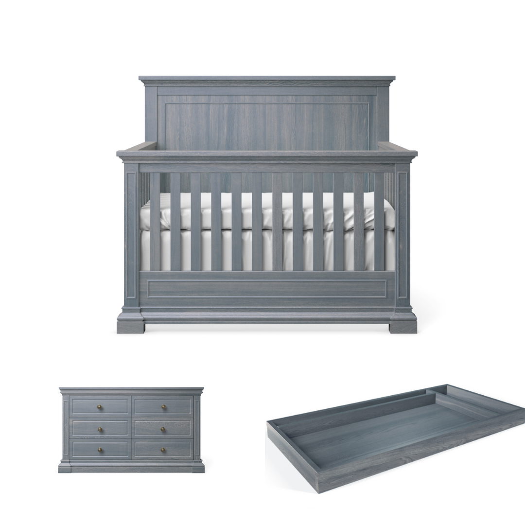 Silva Furniture Jackson Crib + Dresser + Changer - Storm