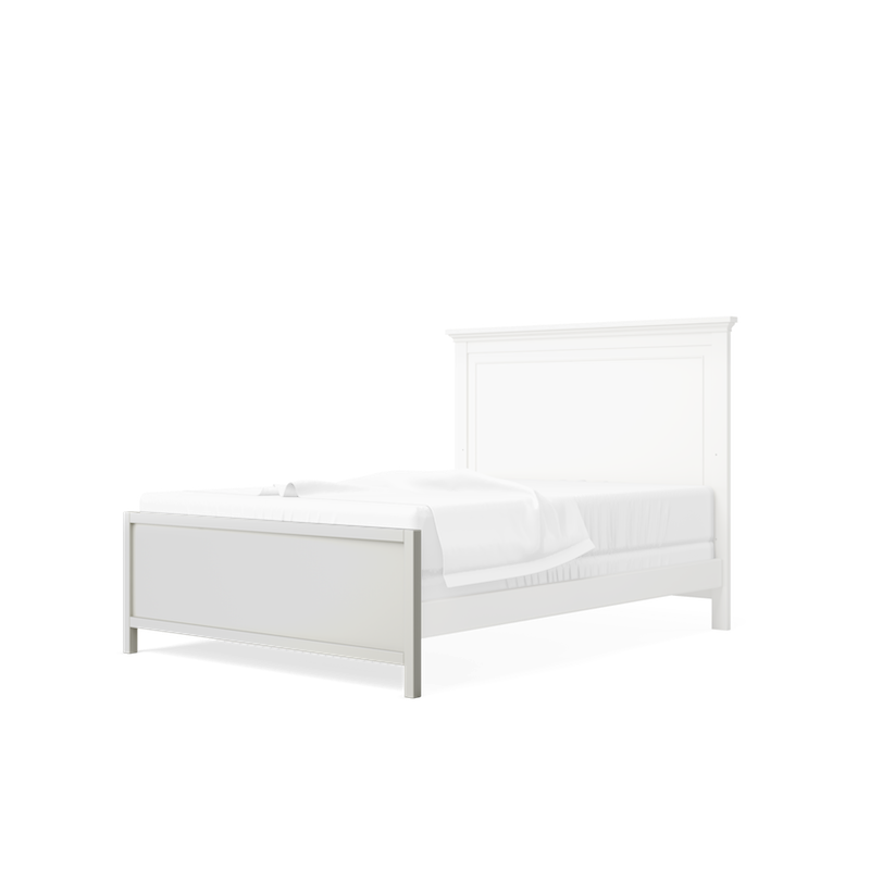 SILVA Furniture Low Profile Footboard - Dove White