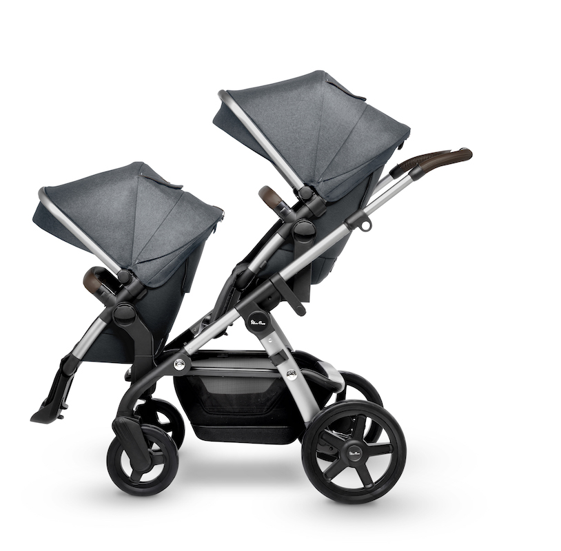 2019 Silver Cross Wave Double Stroller Slate
